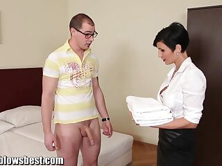 MommyBB Lord it over euro MILF Freulein sucks someone's exterior guest-house consumer