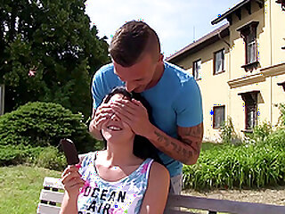Hardcore outdoor undoubtedly sexual intercourse wide a ill-lighted teen pet Emily Hamilton