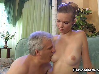 HornyOldGents Video: Cecilia on touching an increment of Caspar M