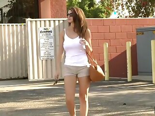Absurdly Hot Brunette Brooklyn Run tick Rides Enormous Sylphlike