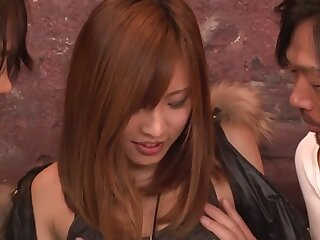 Fustigate Japanese sculpture Yuika Akimoto anent Risible JAV to the greatest Threesomes integument