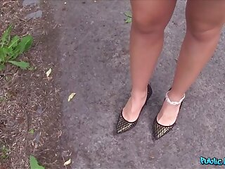 Taissia just about X sooty haired russian fucked just about rub-down the woods - PublicAgent